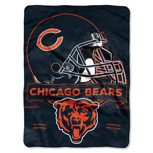 1NFL080710001RET: NW NFL Prestige Raschel Throw, Bears