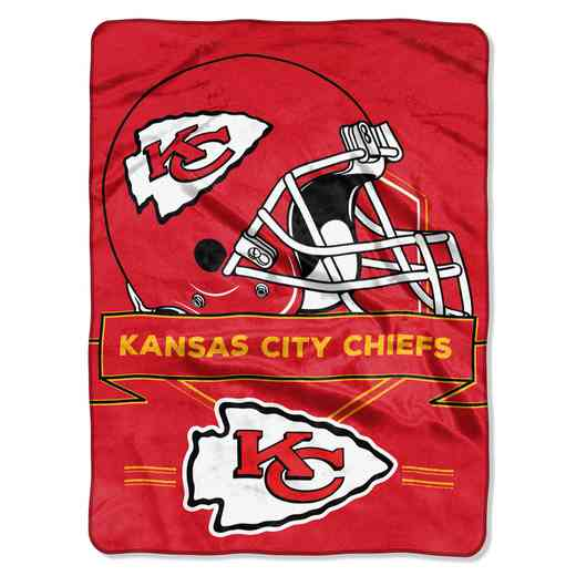 1NFL080710007RET: NW NFL Prestige Raschel Throw, Chiefs
