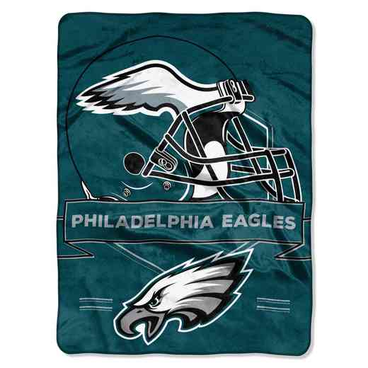 1NFL080710011RET: NW NFL Prestige Raschel Throw, Eagles