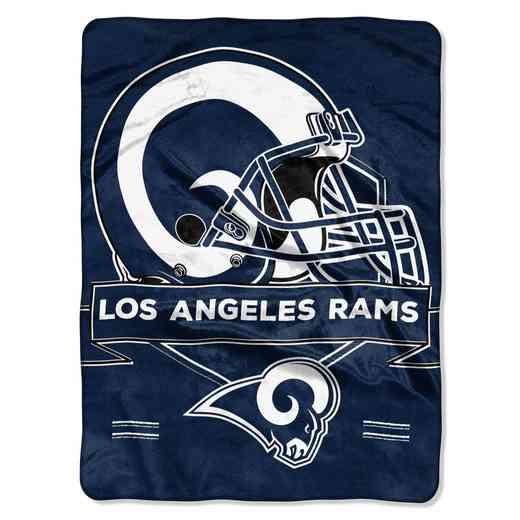 1NFL080710083RET: NW NFL Prestige Raschel Throw, Rams