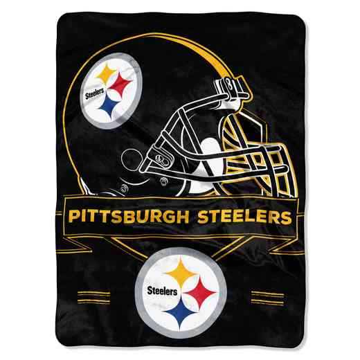 1NFL080710078RET: NW NFL Prestige Raschel Throw, Steelers