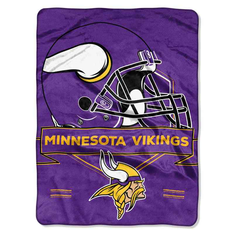 1NFL080710023RET: NW NFL Prestige Raschel Throw, Vikings