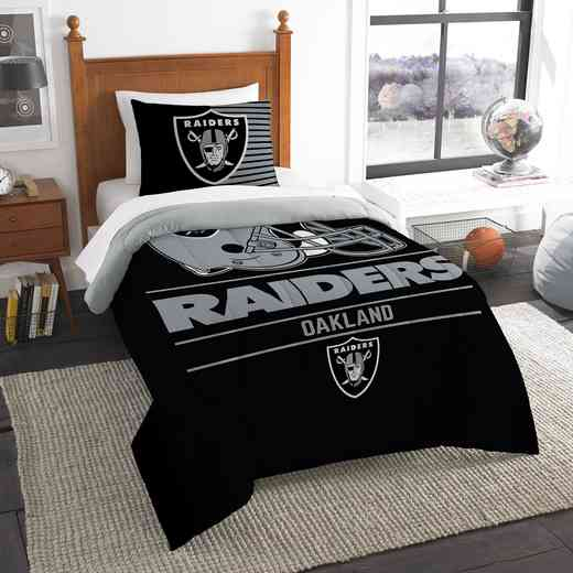 1NFL862000019RET: NW NFL  Anthem Twin Comf Set, Raiders