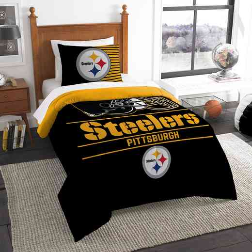 1NFL862000078RET: NW NFL  Anthem Twin Comf Set, Steelers
