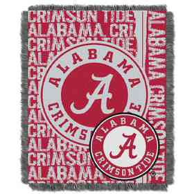 1COL019030018RET: NW COL Double Play Tapestry Throw, ALA · Alabama Crimson  Tide Gametime Tapestry ...