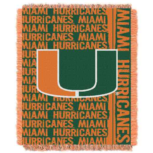 3c7cc9c5807 Miami Hurricanes Gametime Tapestry Throw Blanket