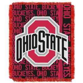 1COL019030007RET NW COL Double Play Tapestry Throw OHST Ohio State Buckeyes