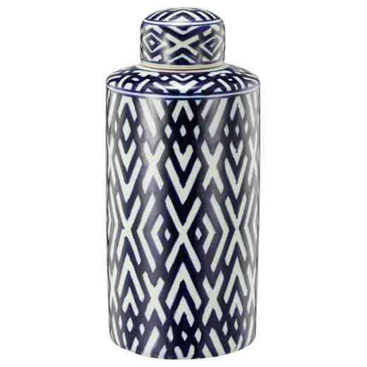 AV0598: AB Carlyle Lidded Jar, Small 6x14