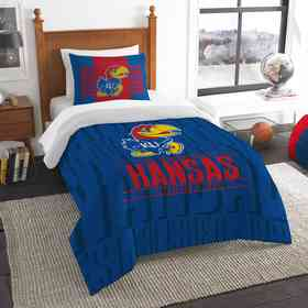 1COL862000008RET: NW NCAA Twin Comforter Set, Kansas