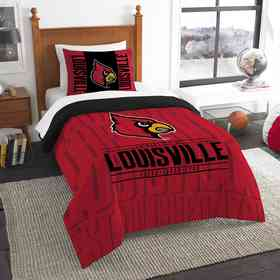 1COL862000072RET: NW NCAA Twin Comforter Set, Louisville