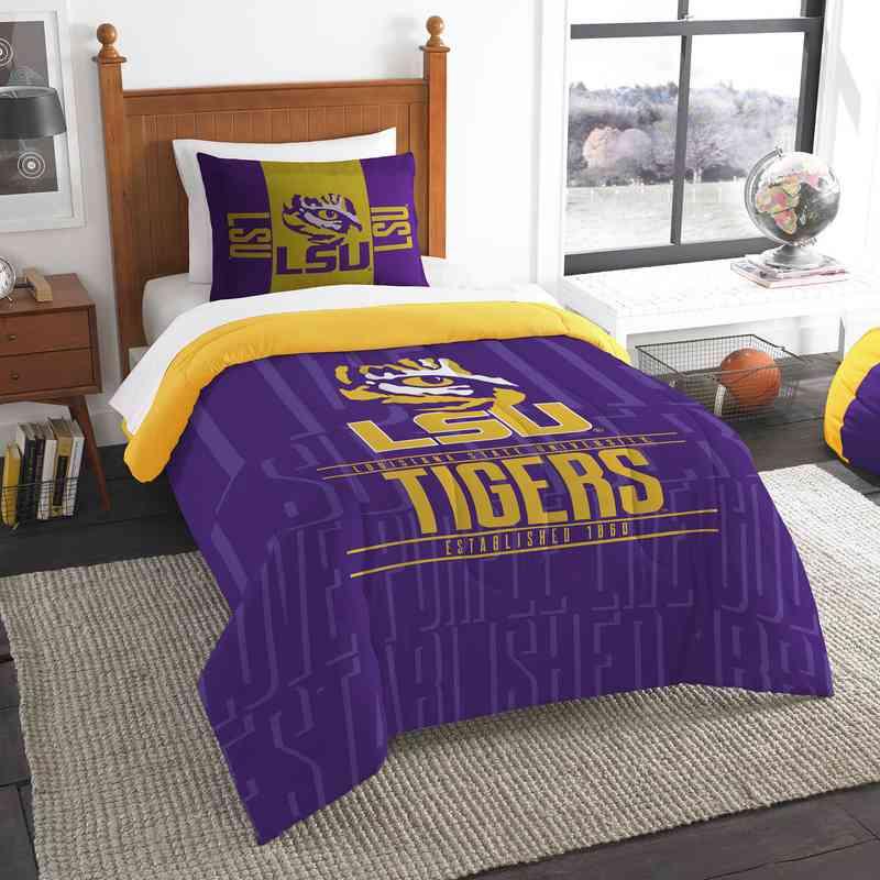Gentil LSU Tigers Gametime Twin Comforter U0026 Sham Set