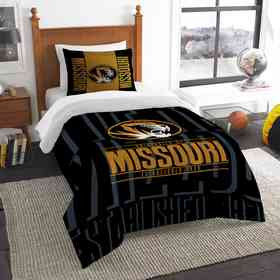 1COL862000009RET: NW NCAA Twin Comforter Set, Missouri
