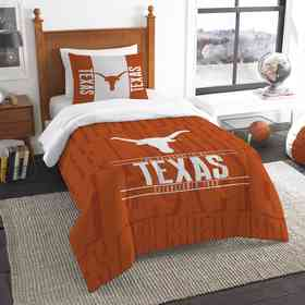 1COL862000036RET: NW NCAA Twin Comforter Set, Texas