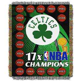 1NBA051088002RET: NW NBA Comm Tapestry Throw, Celtics