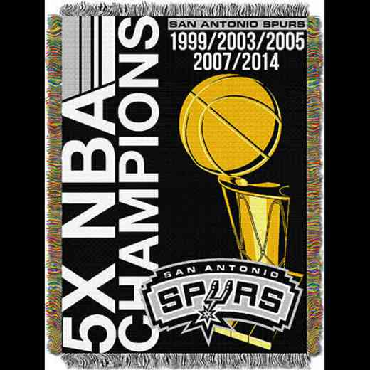 1NBA051500024RET: NW NBA Comm Tapestry Throw, Spurs