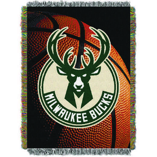 1NBA051030015RET: NW NBA Photo Real Tap Throw, Bucks