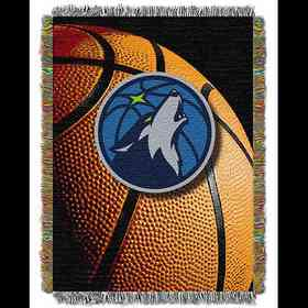 1NBA051030016RET: NW NBA Photo Real Tap Throw, Timberwolves