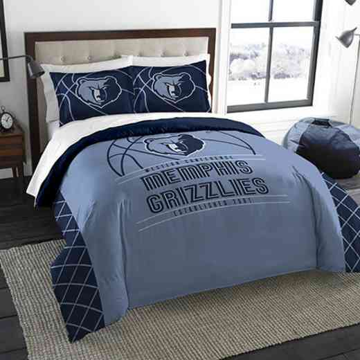 1NBA849000028RET: NWNBA F/Q RS Bedding Set, Grizzlies