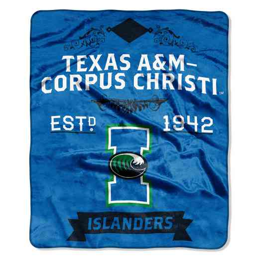1COL670000221RET: NW LABEL RASCHEL THROW, Texas A&M Corpus Christi