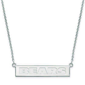 SS016BEA-18: 925 Chicago Bears Bar Necklace