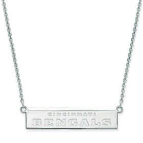 SS016BEN-18: 925 Cincinnati Bengals Bar Necklace