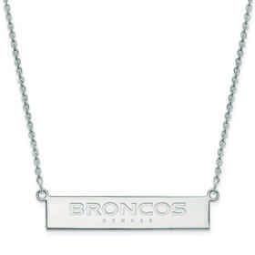 SS016BRO-18: 925 Denver Broncos Bar Necklace