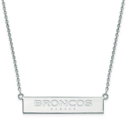 SS016BRO-18: 925 Denver Broncos Bar Necklace