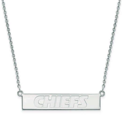 SS016CHF-18: 925 Kansas City Chiefs Bar Necklace