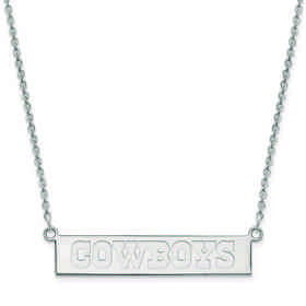 SS016COW-18: 925 Dallas Cowboys Bar Necklace