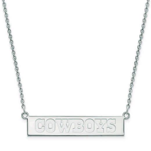 SS016COW-18: 925 Dallas Cowboys Bar Necklace
