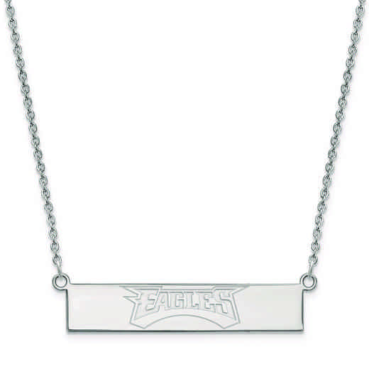 SS016EAG-18: 925 Philadelphia Eagles Bar Necklace
