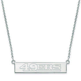 SS016FOR-18: 925 San Francisco 49ers Bar Necklace
