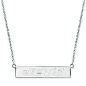 SS016JET-18: 925 New York Jets Bar Necklace