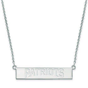 SS016PAT-18: 925 New England Patriots Bar Necklace