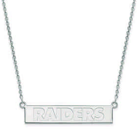SS016RAI-18: 925 Oakland Raiders Bar Necklace