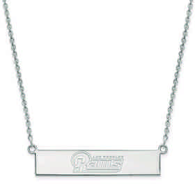 SS016RAM-18: 925 Los Angeles Rams Bar Necklace