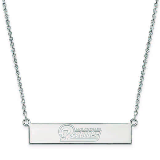 SS016RAM-18: 925 Los Angeles Rams Bar Necklace