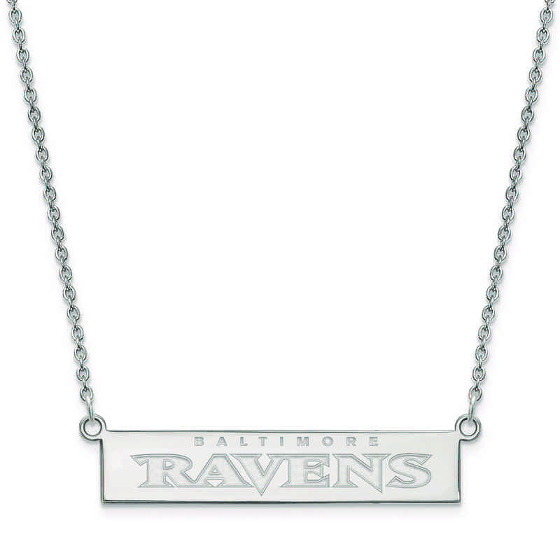 SS016RAV-18: 925 Baltimore Ravens Bar Necklace