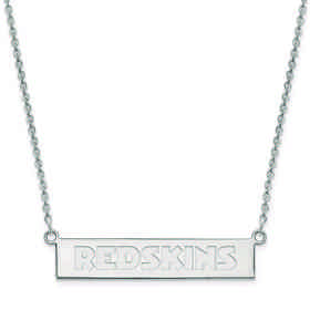 SS016RED-18: 925 Washington Redskins Bar Necklace
