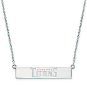 SS016TIT-18: 925 Tennessee Titans Bar Necklace
