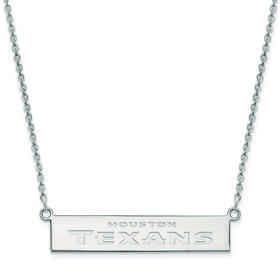 SS016TXN-18: 925 Houston Texans Bar Necklace