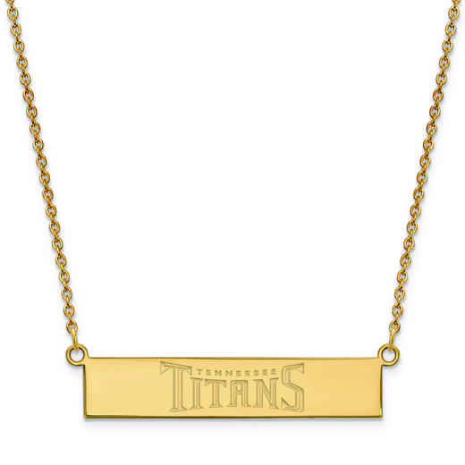 GP016TIT-18: 925 YGFP Tennessee Titans Bar Necklace