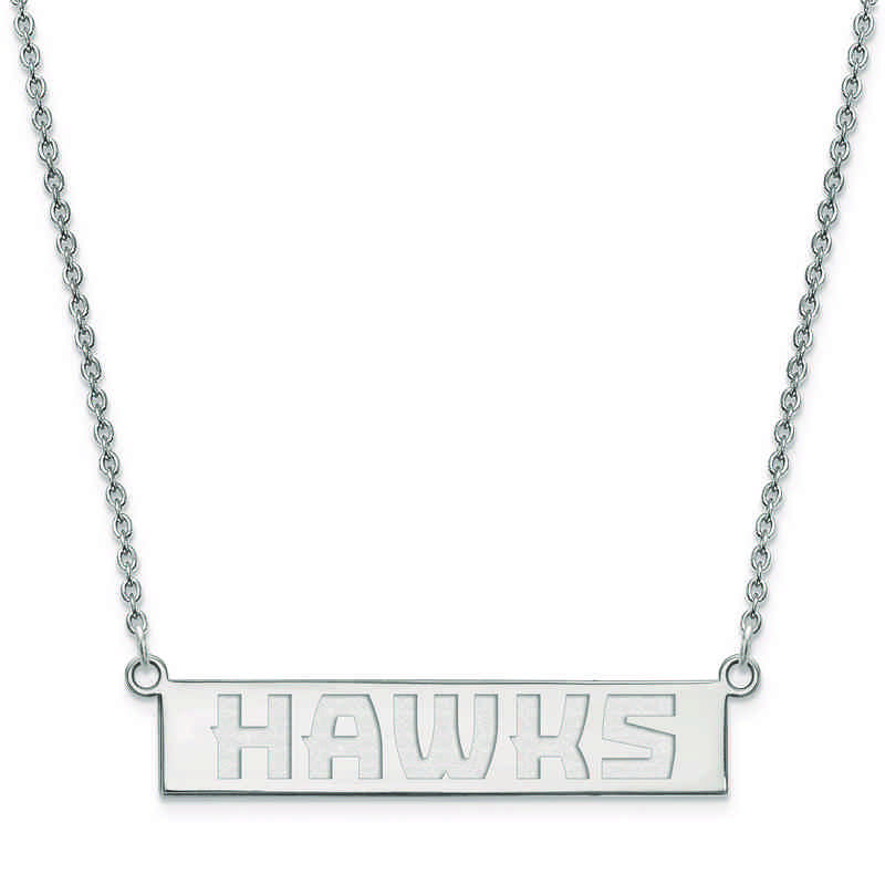 SS023HAW-18: 925 Atlanta Hawks Bar Necklace