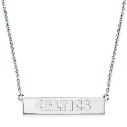 SS035CEL-18: 925 Boston Celtics Bar Necklace