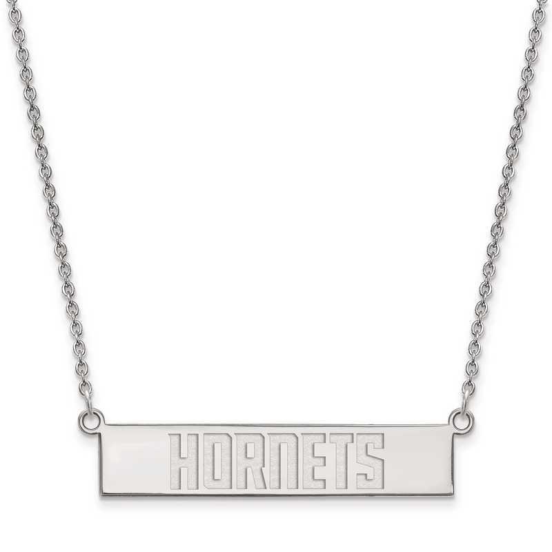 SS025HOR-18: 925 Charlotte Hornets Bar Necklace