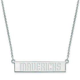 SS023MAV-18: 925 Dallas Mavericks Bar Necklace