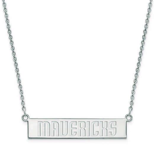 SS023MAV-18: 925 Dallas Mavericks Bar Necklace