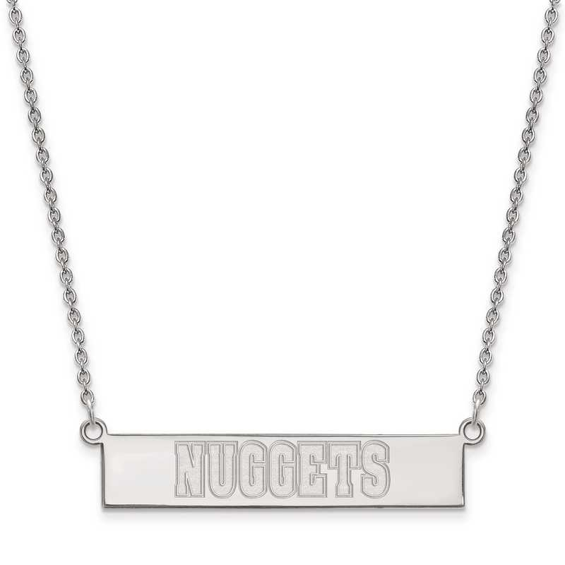 SS023NUG-18: 925 Denver Nuggets Bar Necklace