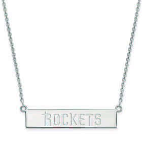 SS017RCK-18: 925 Houston Rockets Bar Necklace