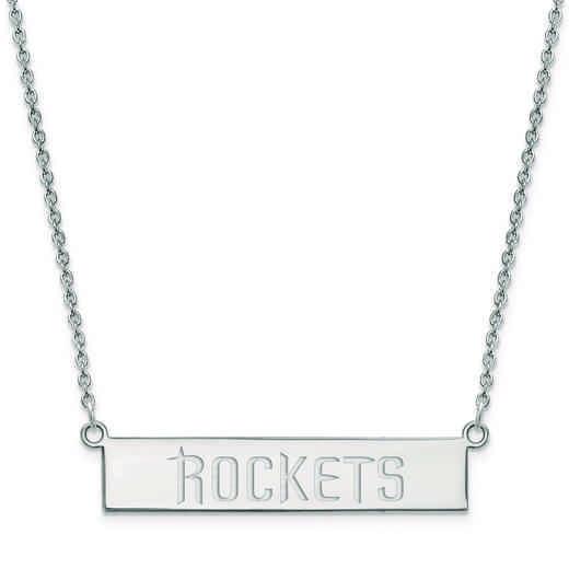 SS017RCK-18: 925 Houston Rockets Bar Necklace